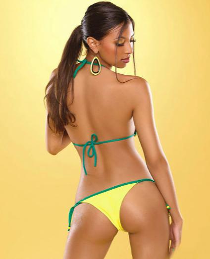 model-in-yellow-bikini
