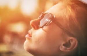 woman in sun