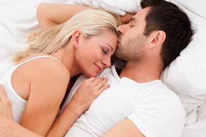 couple satisfied on bed