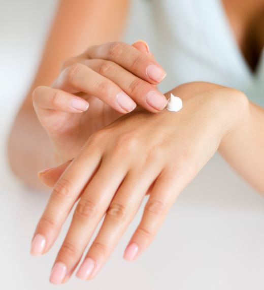 applying hand cream