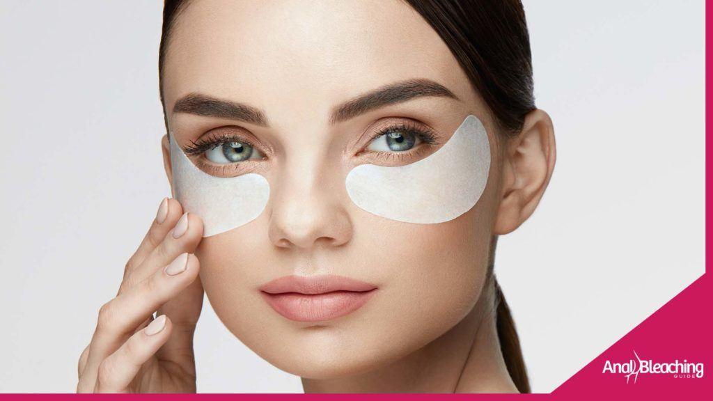 Girl trying skin whitening cream