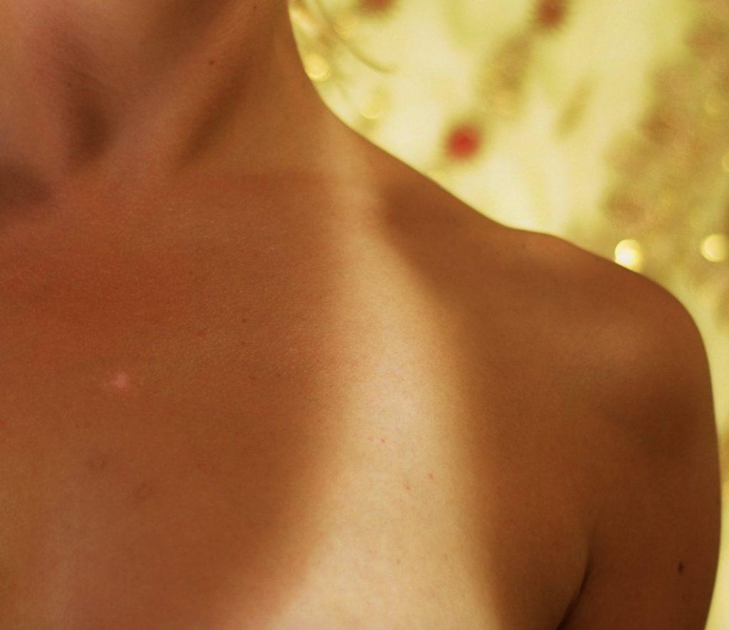 tan skin of a female
