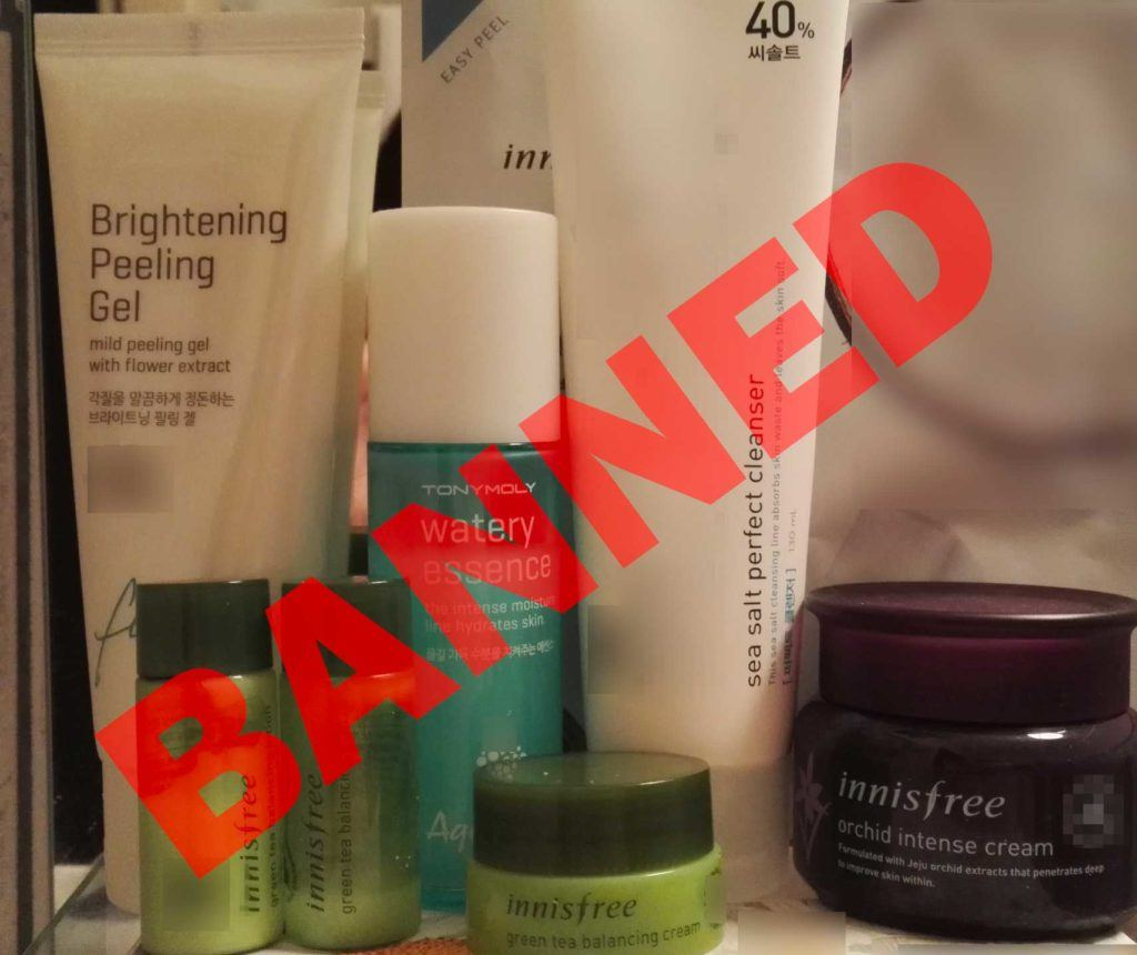 banned whitening products